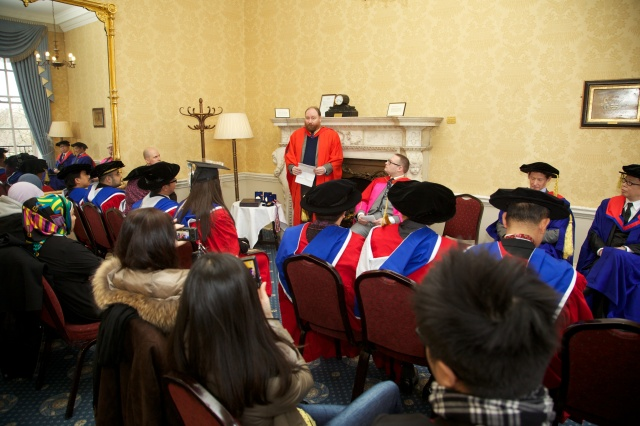 Professor John Kersey addresses EAU-OXCEL convocation